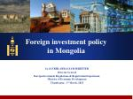 Foreign investment policy in Mongolia