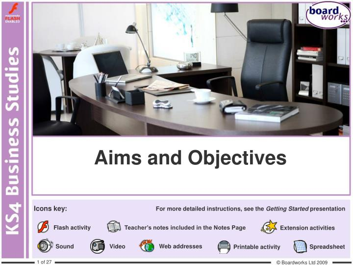 aims and objectives n.