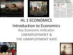 HL 1 ECONOMICS Introduction to Economics