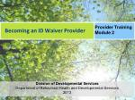 Becoming an ID Waiver Provider