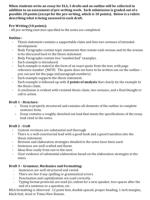 Respond to prompts Brainstorm Construct Outline Thesis statement – last sentence of first paragraph