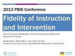 2013 PBIS Conference