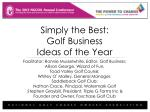 Simply the Best: Golf Business Ideas of the Year