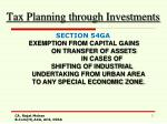 Tax Planning through Investments