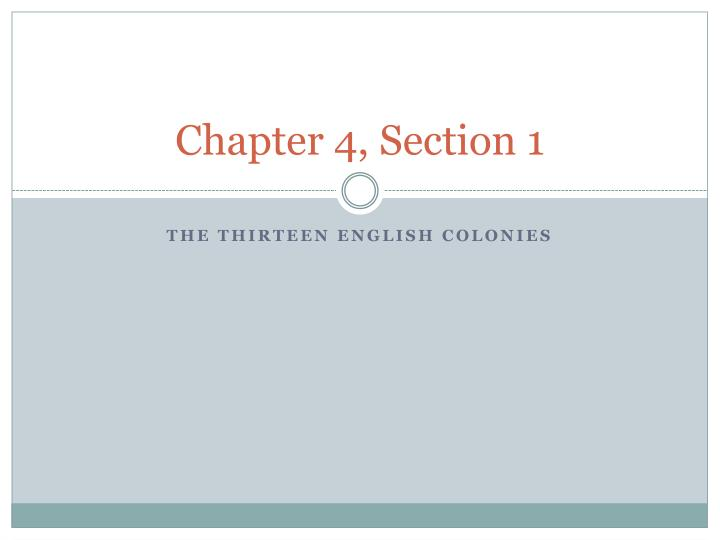 chapter 4 section 1 n.