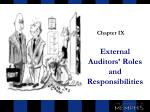 External Auditors' Roles and Responsibilities