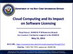 Cloud Computing and its Impact  on Software Licensing
