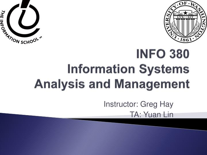 info 380 information systems analysis and management n.