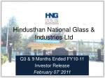 Hindusthan National Glass & Industries Ltd