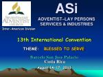 ASi ADVENTIST–LAY PERSONS SERVICES & INDUSTRIES