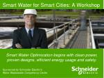 Smart Water for Smart Cities: A Workshop
