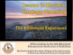 Lessons in Business Strategy Planning