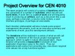 Project Overview for CEN 4010
