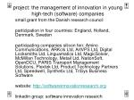 project: the management of innovation in young high-tech (software) companies