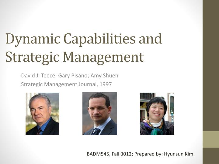 dynamic capabilities and strategic management n.