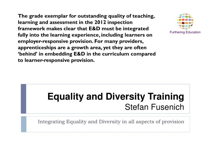 equality and diversity training stefan fusenich n.