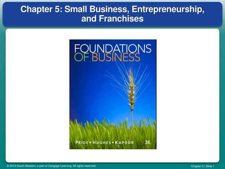 chapter 5 small business entrepreneurship and franchises n.