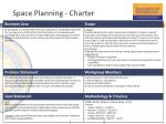 Space Planning - Charter