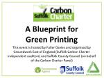 A Blueprint for  Green Printing