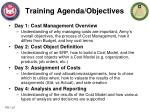 Training Agenda/Objectives