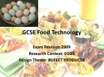 GCSE Food Technology