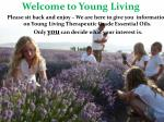 Welcome to  Young  Living