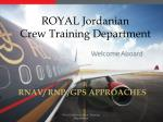 ROYAL Jordanian Crew Training Department