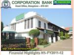 CORPORATION BANK Head Office, Mangalore – 575 001