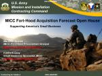 MICC Fort-Hood Acquisition Forecast Open House Supporting America's Small Business