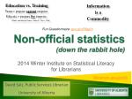 Non-official statistics (down the rabbit hole)