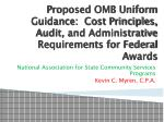 Proposed OMB Uniform Guidance: Cost Principles, Audit, and Administrative Requirements for Federal Awards