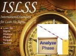 Lean Six Sigma Analyze Phase Tollgate  Review