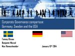 Corporate Governance comparison: Germany, Sweden and the USA