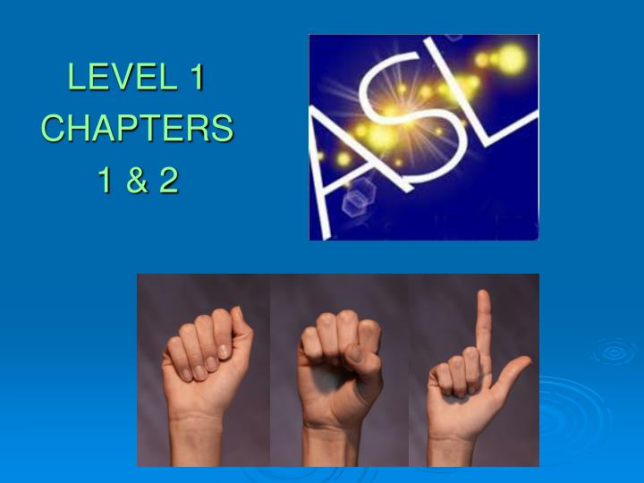 level 1 chapters 1 2 n.