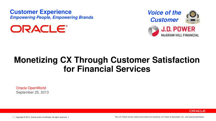 monetizing cx through customer satisfaction for financial services n.