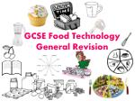 GCSE Food Technology General Revision