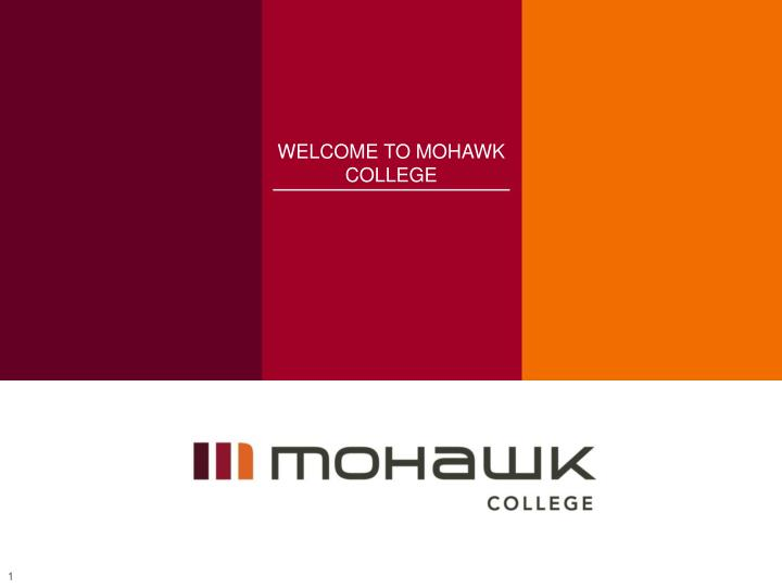 welcome to mohawk college n.