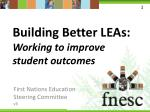 Building Better LEAs : Working to improve student outcomes