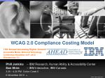 WCAG 2.0 Compliance Costing Model