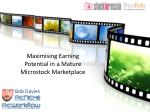 Maximising Earning Potential in a Mature  Microstock Marketplace