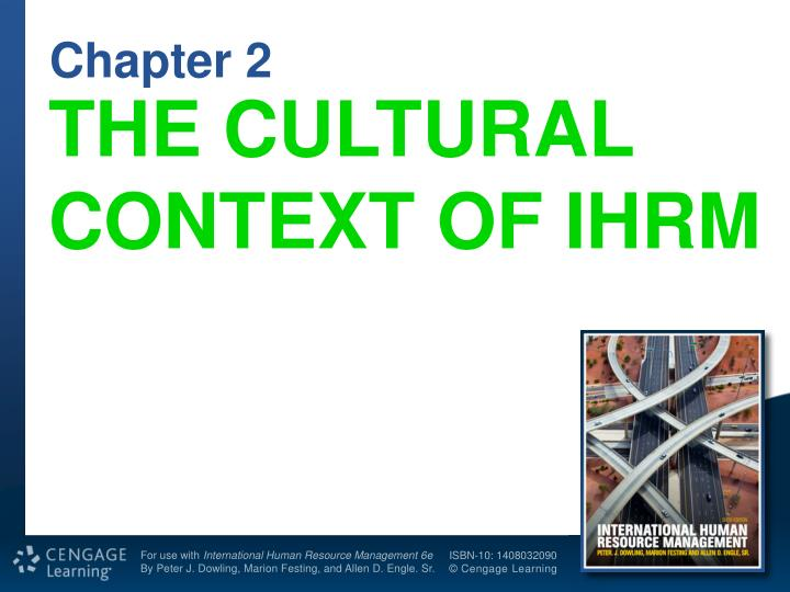 the cultural context of ihrm n.