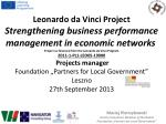 """Maciej Pietrzykowski Senior Consultant, Member of the Board Foundation """"Partners for Local Government"""""""