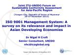 ISO 9001 Management System: A survey on its relevance and impact in Asian Developing Economies