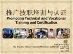 推 广技职培训与认证 Promoting Technical and Vocational Training and Certification