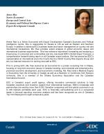 Aimee Rae Senior Economist Europe and Central Asia Economic and Political Intelligence Centre Export Development Canad