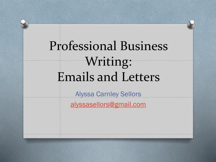 professional business writing emails and letters n.