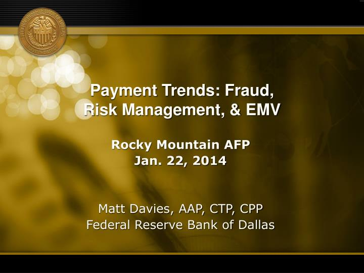 payment trends fraud risk management emv n.