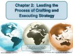 Chapter 2:  Leading the Process of Crafting and Executing Strategy
