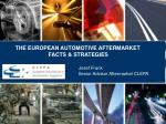 THE EUROPEAN AUTOMOTIVE AFTERMARKET 			FACTS & STRATEGIES	 Josef Frank 	Senior Advisor Aftermarket CLEPA
