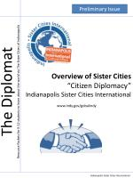 """Overview of Sister Cities """"Citizen Diplomacy"""" Indianapolis Sister Cities International www.indy.gov/gobalindy"""